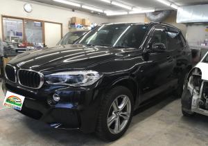 BMW X5|ボンネット・Rrバンパー|板金塗装・着脱修理|豊島区のお客様
