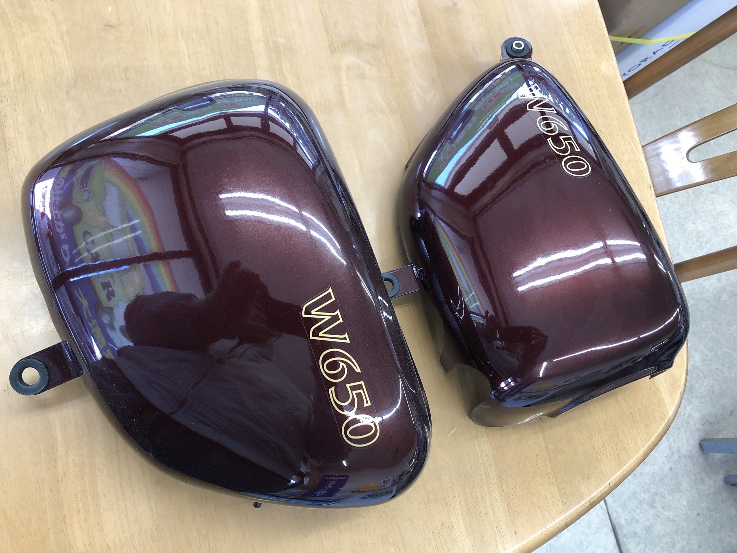バイクW650|パーツ塗装|所沢市のお客様