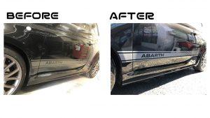 アバルト8239|サイドステップ・サイドシル|鈑金塗装修正 |所沢市のお客様