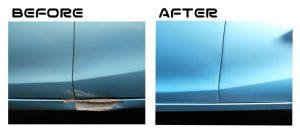 アクア|フロントドア、リヤドア、サイドステップ|板金塗装|所沢市のお客様