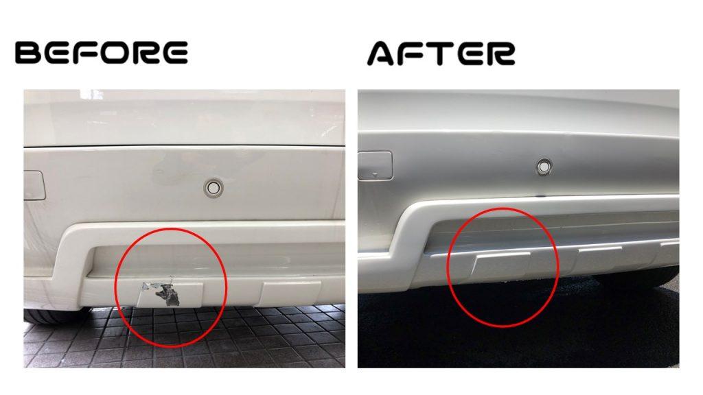 BMWX5|Rrバンパー|割れ修理|所沢市のお客様