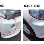 BMWX5 XDrive30i|フロントバンパー右| キズ直し|国立市のお客様