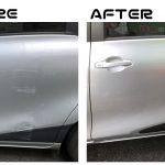 トヨタ シエンタ|スライドドア左ヘコミ直し モール取替 リヤクォーターパネルボカシ塗装|所沢市のお客様